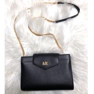 Michael Kors black crossbody clutch purse bag